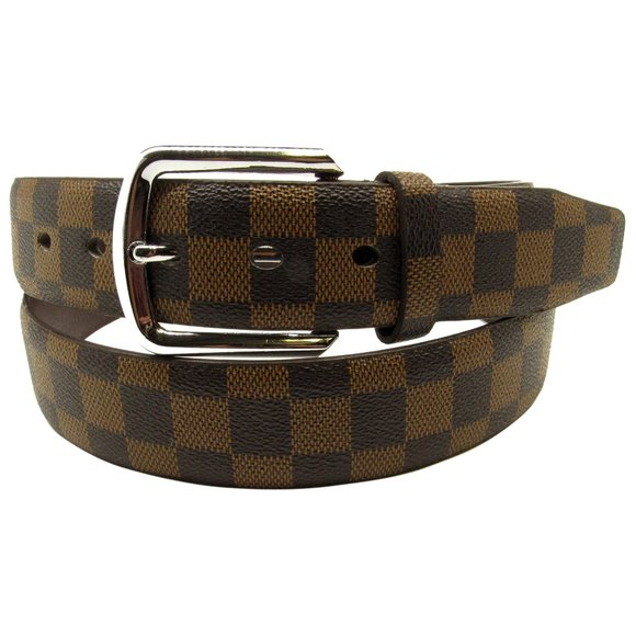 "Men/'s Genuine Leather Designer Dress Crocodile Belt 1-1//2/"" Wide Black Brown"
